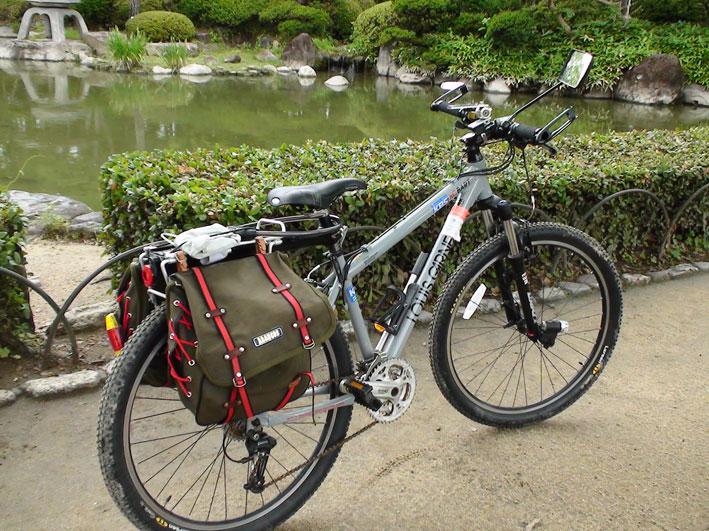 大阪城は初夏MTBで走る5오사카성은 첫여름 자전거로